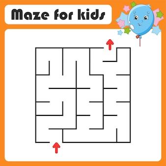 Abstrakcyjna gra labirynt dla dzieci
