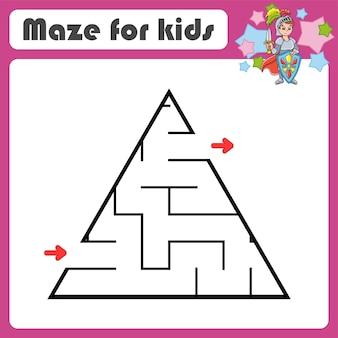 Abstrakcyjna gra labiryntowa dla dzieci puzzle dla dzieci