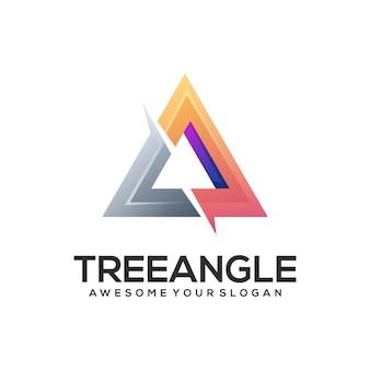 Abstrakcyjna Ilustracja Logo Gradientu Trójkąta Premium Wektorów