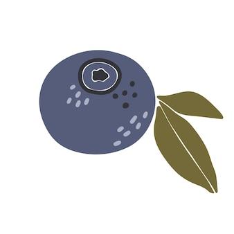 Abstrakcyjna ilustracja owoców borówki