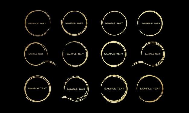 Abstrakcyjna ilustracja rysowane okrągłe ramki dla tekstu dymki