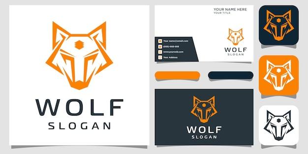 Abstrakcyjna kolekcja logo płaskiego wilka darmowych wektorów