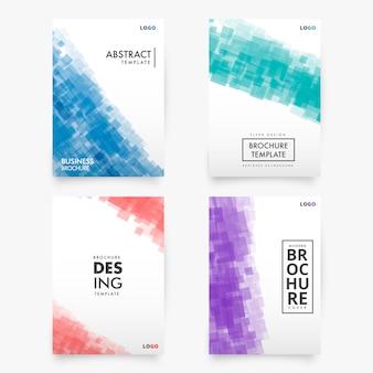 Abstrakcyjna kolekcja nowoczesnych szablonów broszura