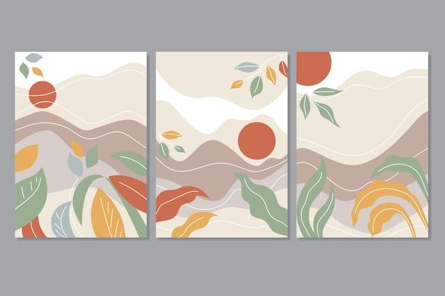 Abstrakcyjna kolekcja okładek