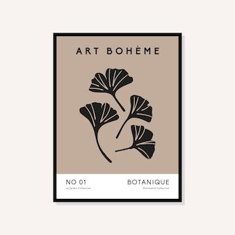 Abstrakcyjna kolekcja plakatów w stylu boho