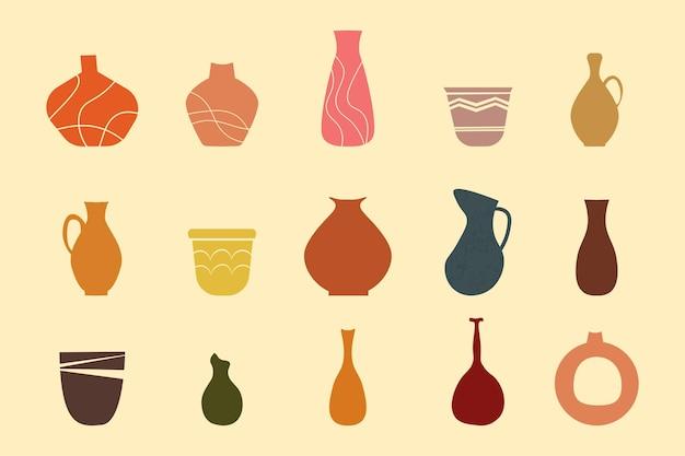 Abstrakcyjna kolekcja wazonów