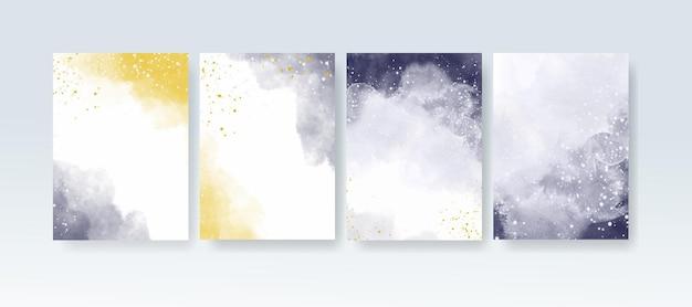 Abstrakcyjna kolorowa akwarela na tle cyfrowe malowanie artystyczne