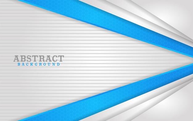 Abstrakcyjna kombinacja białych i niebieskich linii tła
