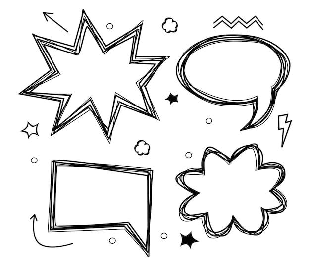 Abstrakcyjna koncepcja kreatywna wektor komiks stylu pop-art pusty szablon układu z chmurami belki i is