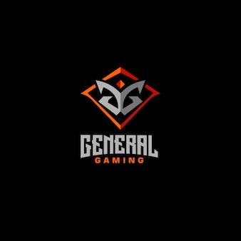 Abstrakcyjna litera gg znak logo logo gry inicjały gg