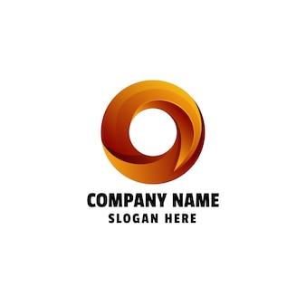 Abstrakcyjna litera o kolorowy gradient logo szablon