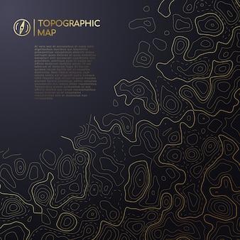 Abstrakcyjna mapa topograficzna