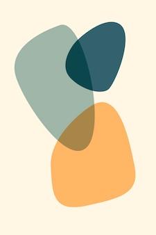 Abstrakcyjna martwa natura z brzoskwiniowym morelowym owocem granatu plakat kolekcja sztuka współczesna