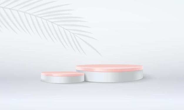 Abstrakcyjna minimalna scena z podium 3d do wyświetlania produktu lub prezentacji makiety ilustracji