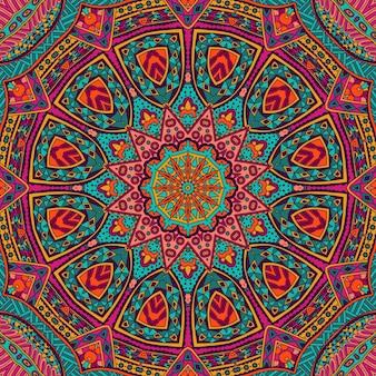 Abstrakcyjna mozaika geometryczna mandala vintage etniczne bezszwowe wzór ozdobne
