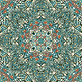 Abstrakcyjna mozaika geometryczna vintage etniczne bezszwowe wzór ozdobne