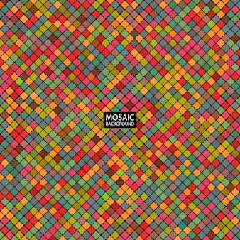 Abstrakcyjna mozaika tła kolorowych kwadratów