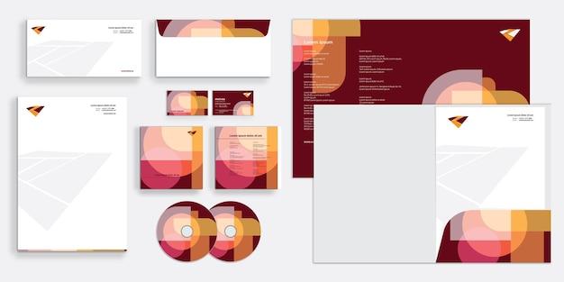 Abstrakcyjna, nakładająca się, 8-bitowa, nowoczesna korporacyjna tożsamość biznesowa, stacjonarna