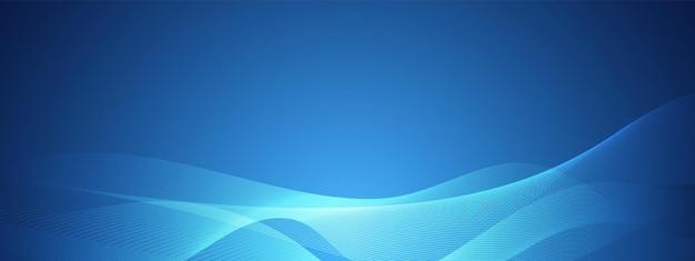 Abstrakcyjna niebieska technologia fala projekt sieci cyfrowej tło wektor koncepcja komunikacji