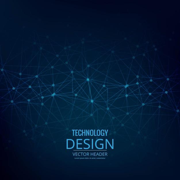 Abstrakcyjna niebieskie tło technologii