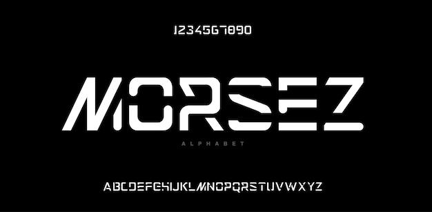Abstrakcyjna nowoczesna czcionka alfabetu miejskiego