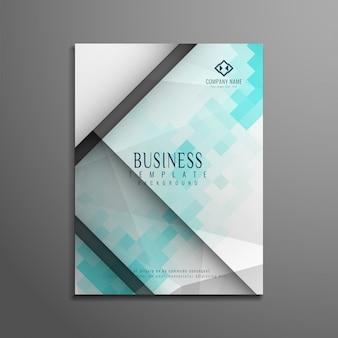 Abstrakcyjna nowoczesnych geometrycznych biznesowych ulotka projektu