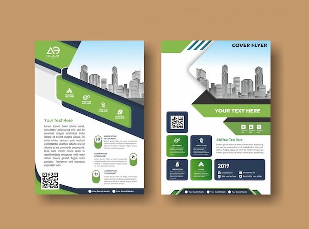 Abstrakcyjna okładka i układ prezentacji i marketingu