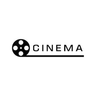 Abstrakcyjna taśma filmowa, szablon projektu logo kina