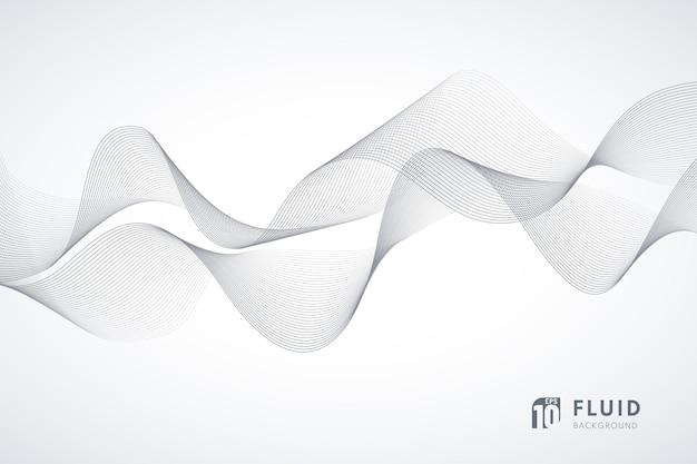 Abstrakcyjna technologia biało-szara linia falista konstrukcja ruch 3d dźwięku dynamicznego tła.
