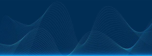 Abstrakcyjna technologia cząstek, projektowanie fal, tło sieci cyfrowej, koncepcja komunikacji wektorowej