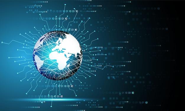 Abstrakcyjna technologia koncepcja świat i łącze cyfrowe