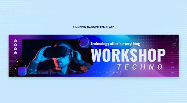 Abstrakcyjna technologia płynów banner linkedin