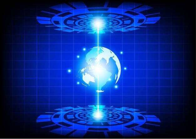 Abstrakcyjna technologia przyszłości