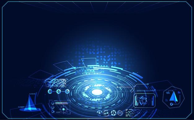 Abstrakcyjna technologia ui futurystyczna