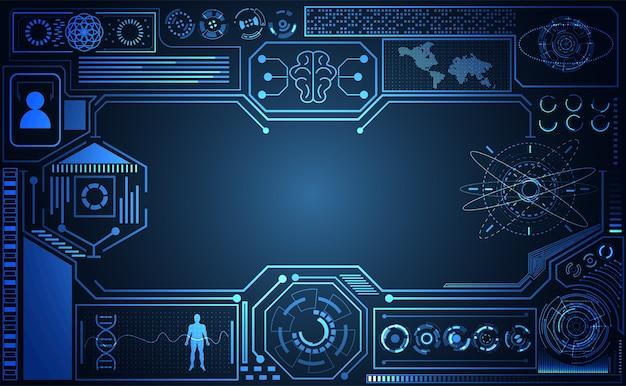 Abstrakcyjna technologia ui futurystyczny koncepcja interfejsu ai hud
