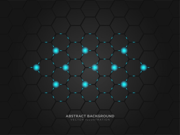 Abstrakcyjna technologia układ metaliczny czarny kolor nowoczesna technika