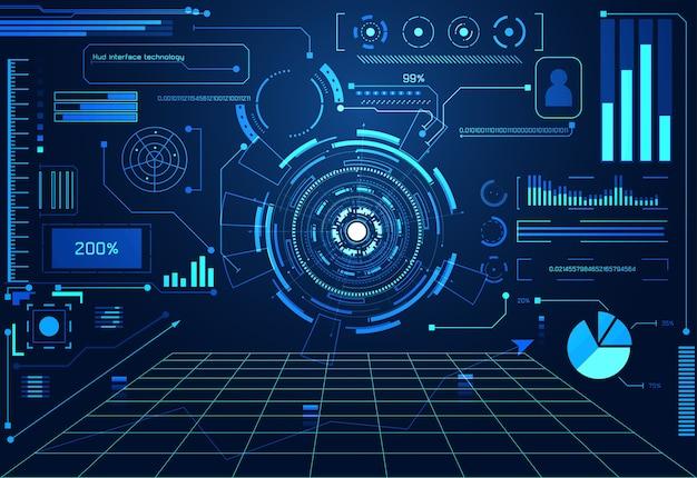 Abstrakcyjna technologii ui futurystyczny koncepcja hologram interfejsu hud
