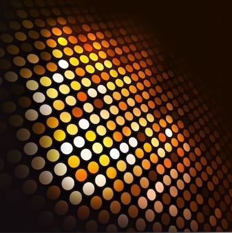 Abstrakcyjna tła z okręgów w perspektywie w odcieniach żółci i pomarańczy