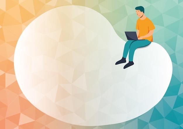 Abstrakcyjna wiadomość rozprzestrzeniająca się online koncepcje globalnej łączności pomysły na wiadomości na czacie przechowywanie w chmurze