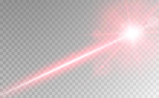 Abstrakcyjna wiązka laserowa przezroczysta na przezroczystym tle