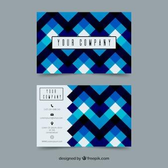 Abstrakcyjna wizytówki w niebieskim dzwonka