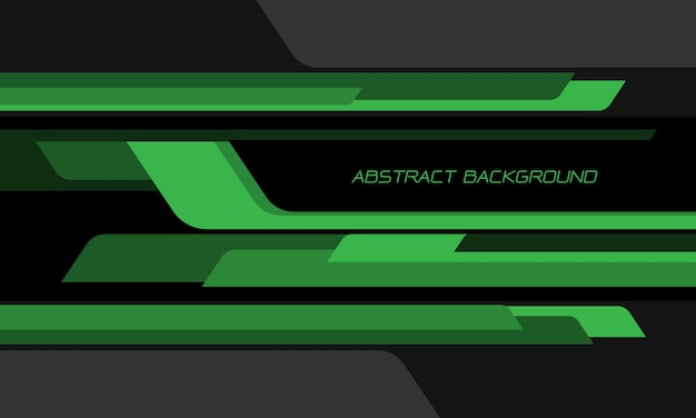 Abstrakcyjna zielona czarna geometryczna prędkość nakładania się na ciemnoszarym tle nowoczesnej futurystycznej technologii