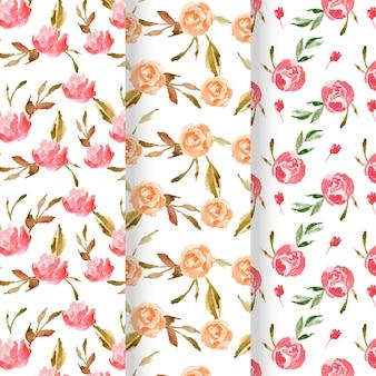 Abstrakcyjne akwarele kwiatowe wzory