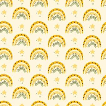 Abstrakcyjne bezszwowe wzory z tęczą