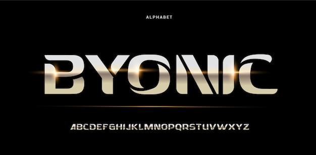 Abstrakcyjne cyfrowe futurystyczne nowoczesne czcionki alfabetu