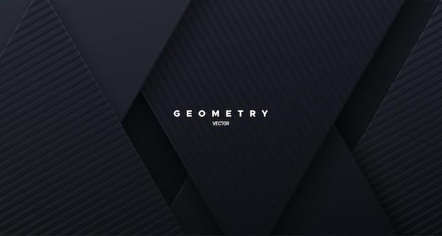 Abstrakcyjne czarne tło o skośnych kształtach