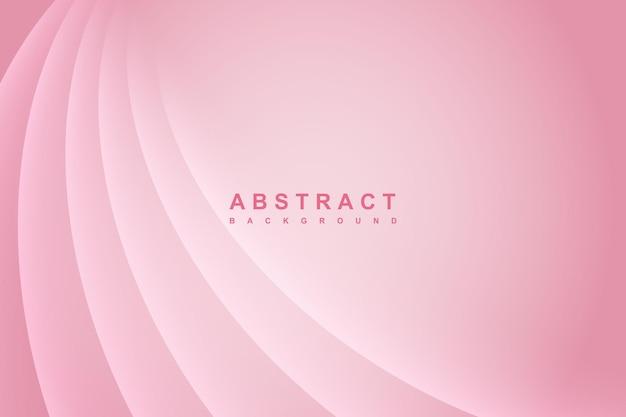 Abstrakcyjne dynamiczne faliste linie kolorowe różowe tło