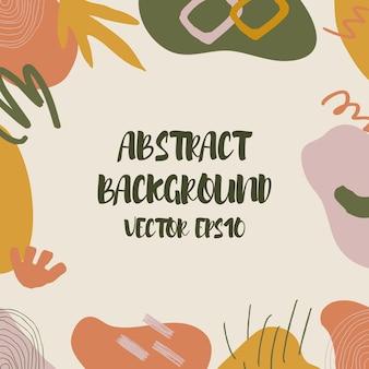 Abstrakcyjne elementy botaniczne i geometryczne w modnym stylu, tekstury.