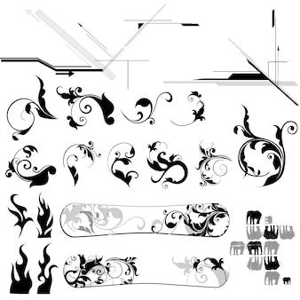 Abstrakcyjne elementy dekoracyjne