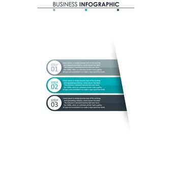 Abstrakcyjne elementy wykresu, diagram z 3 krokami, strategia, opcje, części lub procesy.